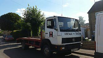 Mercedes 7.5 Tonne Flat Bed Lorry P Reg - 1996. With Straps