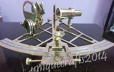 "Vintage Solid Brass Navigation Working Sextant Maritime Gift Item 10""."