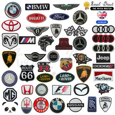 Car brand logo Embroidered Iron On /Sew On Patch Badge Motor Sport Racing Cars