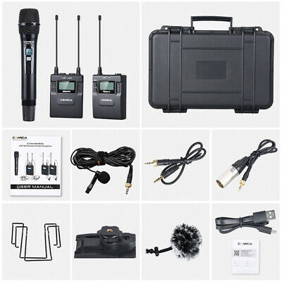 Comica CVM-WM300(B) Wireless 96-Channel UHF Lavalier Microphone for Sony Canon