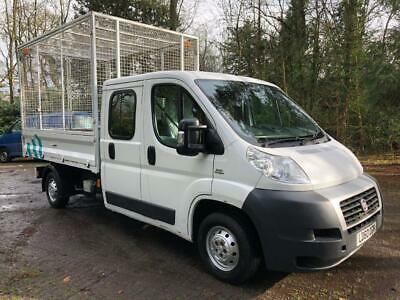 2010 (60) Fiat Ducato 35 120 LWB Caged Tipper Double Low miles - Only 22K