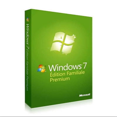 Microsoft Windows 7 SP1 Home Premium 32 ou 64bit Pack complet DVD Neuf Offert