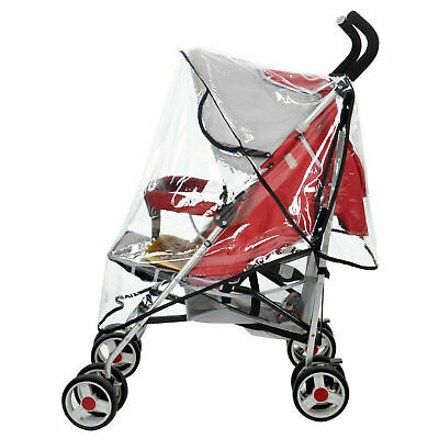Cover Raincoat Universal Baby Pushchair Buggy Stroller Pram Transparent Rain