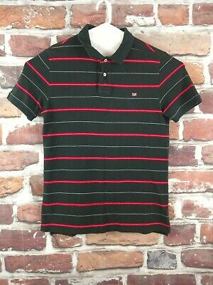 Vtg Mens Jeans Blackred Polo Company Mfg Shirt Lauren Striped Size M Ralph m8yvwONn0