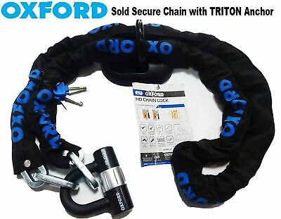 Chain Lock H/D 2.0M Ground Anchor Motorcycle Scooter Oxford Triton H/D Security