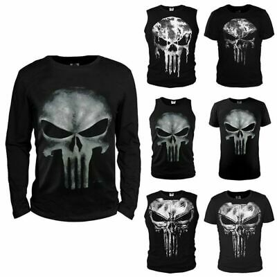 Men's Tank Top Ghost Sports The Punisher Skull Slim Cosplay Vest Workout T-shirt