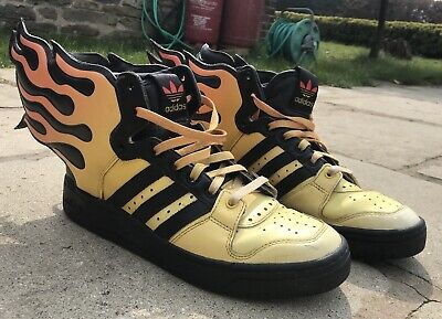 separation shoes 4c021 a5984 Jeremy Scott Adidas Flame Trainers Yellow Black Leather   Uk Size 7