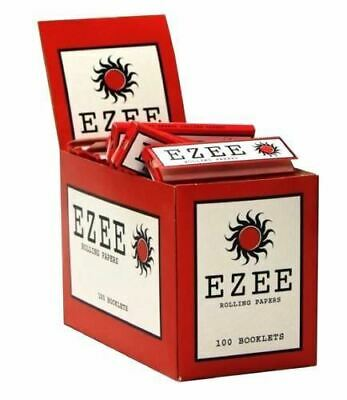 1 5 10 20 50 100 Ezee Red Standard Regular Size Smoking Cigarette Rolling Paper