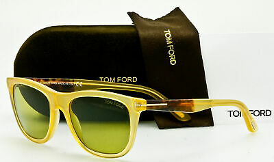 edefed6314d Tom Ford Men s Sunglasses TF500 S Andrew 41N Translucent Yellow Green 54mm  New