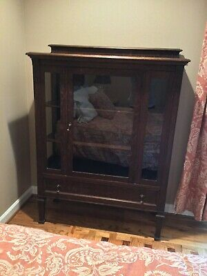 Mission Oak Bookcase - Arts and Crafts - Display Cabinet - 1910