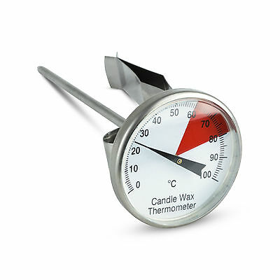 Colour Coded Stainless Steel Candle Wax Thermometer with 40 mm Dial - 800-701