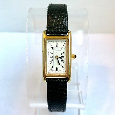 TIFFANY & CO. PORTFOLIO Quartz Goldplated Ladies Watch T&Co. Band In Box