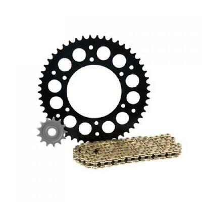 Primary Drive Alloy Kit & Gold X-Ring Chain Black Rear Sprocket Part #1097570235