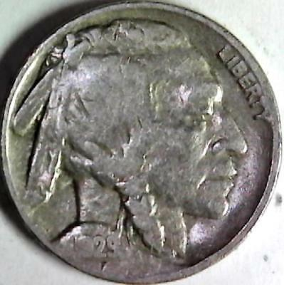 1929 Buffalo nickel 5 cents. Good detail obverse and reverse. 2990