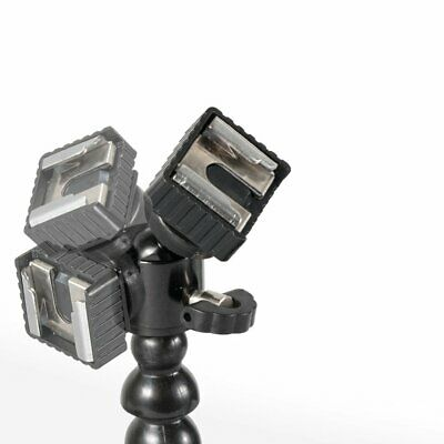 Slr Camera Bracket Compatible With Double Head Flash Light With Double Lamps Y