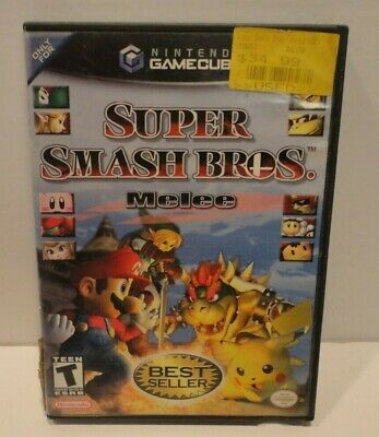 Super Smash Bros. Melee (Nintendo GameCube, 2001) Case & Manual Only No Disc