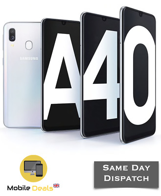 New Samsung Galaxy A40 (2019) 64GB Dual SIM 4G LTE Android Smartphone 4 Colours