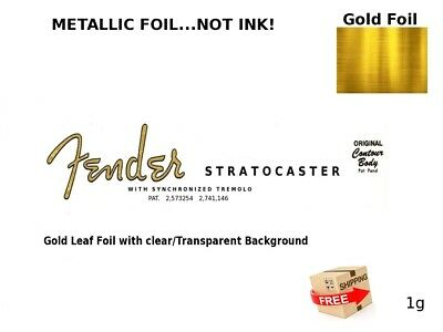 Fender Stratocaster Guitar Headstock Decal Restoration Waterslide Logo Inlay 1g