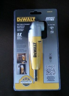 New DEWALT DWARA100 Right Angle Adapter Attachment 5X, Blister Card Pack