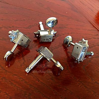 3 Modern Vintage Classic Tuner Chrome Left Side 15 :1 Tuning Machines Cigar Box