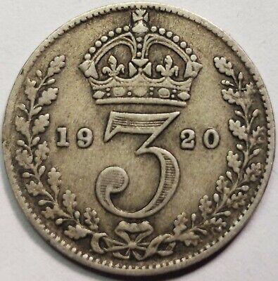 1920-1936 Silver Threepences
