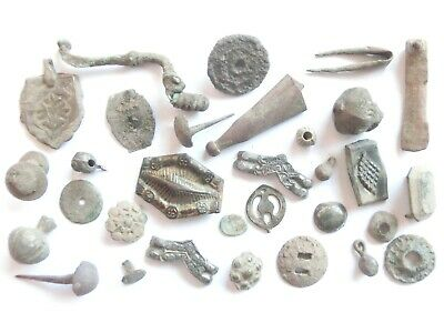 Lot of Misc. Ancient Bronze / Silver / Billon / Gilded Artifacts