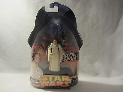 Star Wars Senator Mon Mothma ROTS Action Figure #24 MOC Revenge of the SITH Toy