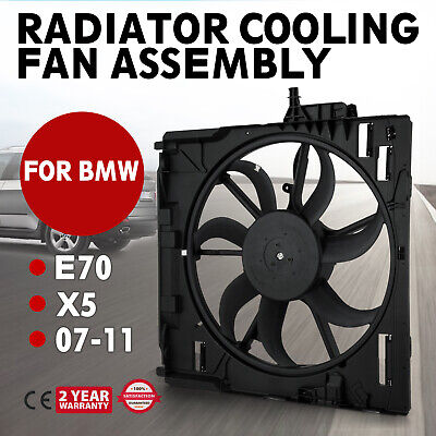 Hot FIT BMW E70 X5 07-11 NEW Engine Radiator Cooling Motor Fan Assembly Safe