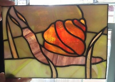 """Stunning Vintage Stained Glass SNAIL Sun Catcher Insect Animal 8"""" 28 Pieces!"""
