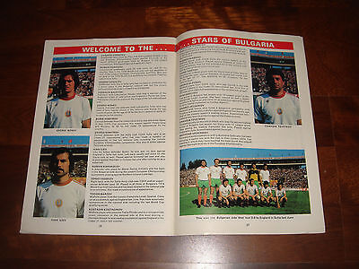 OFFICIAL PROGRAMME ENGLAND Vs BULGARIA NOVEMBER 1979 (EURO '80 QUALIFYING MATCH)