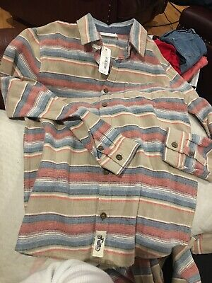 Gymboree NWT Sz 14 Button Up Fleece Shirt