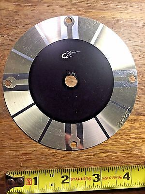 "4 3/4"" ELGIN CLOCK DIAL PAN (Clock Dial Lot D141)"
