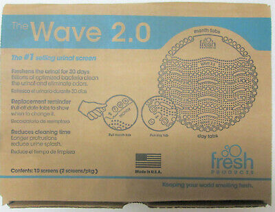 Fresh Products Wave 2.0 Spiced Apple Scented Urinal Screen 10/Pack