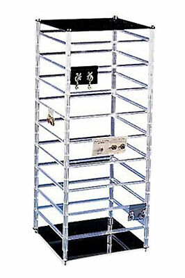 """Large Rotating Jewelry Rack - 10"""" x 10"""" x 25""""H – Holds  144 2""""W Earring Cards"""