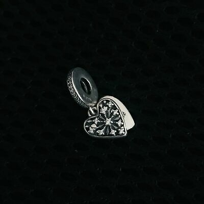 ! Authentic Pandora #796372CZ Heart of Winter Dangle Bead with Clear CZ