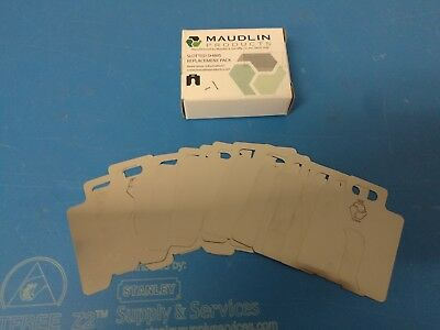 Box of 20 MAUDLIN PRODUCTS Stainless Steel Slotted Shims MSA005-20 .005 Thick