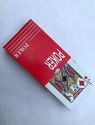 Red Original Playing Cards Classic Standard Size Durable Deck Poker Bridge red