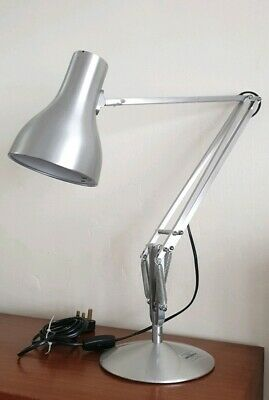 Modern Vintage Herbert Terry Anglepoise 75 Desk Lamp. Silver Chrome Workshop
