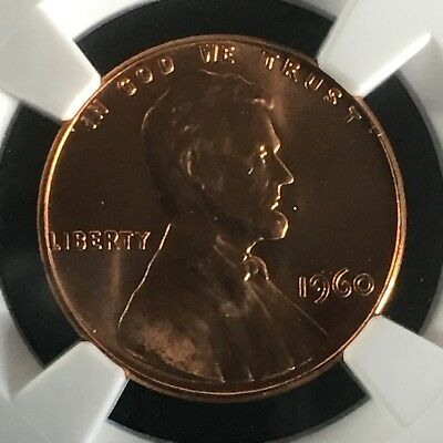 1960 1C RD Large Date Lincoln Memorial One Cent NGC MS67+RD       2713478-005c