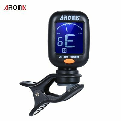 AROMA AT-101 Digital Clip-on Electric Foldable Rotating Guitar Tuner  Clip High