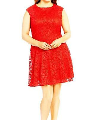 c317354d8f7 LESLIE FAY SOLID Red Sleeveless Flared Lace Dress Size 10 -  25.60 ...