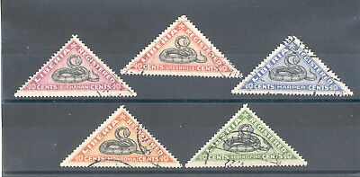 "Liberia - Nice used Set of Stamps Year 1921 ""Snakes"""