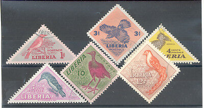 "Liberia - Complete Set of Stamps Year 1953 used ""Birds"""