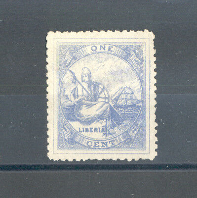 Liberia - Classic  Stamp Year 1880 MNG (Single Line Frame)