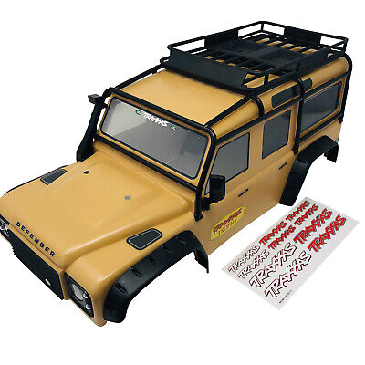 Traxxas TRX-4 Land Rover Defender 110 Trophy Edition Tan Body Shell 8011 New