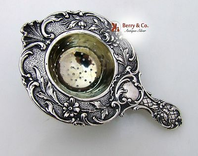 Dutch Solid Silver Tea Strainer 1890s