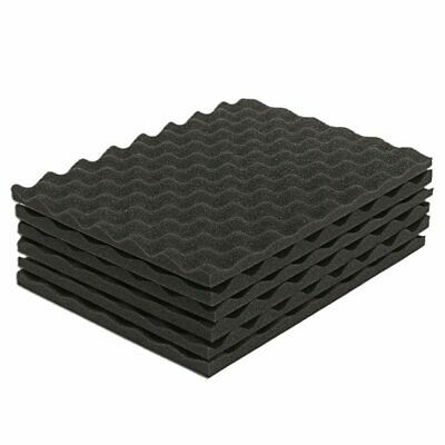 6PCS Black Acoustic Eggshell Foam Sound Absorption Treatment Panel Tile 40X L8R3