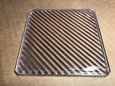 Scarce Prism Glass Tile 1890's Luxfer Diagonal Electroglaze Stained Victorian