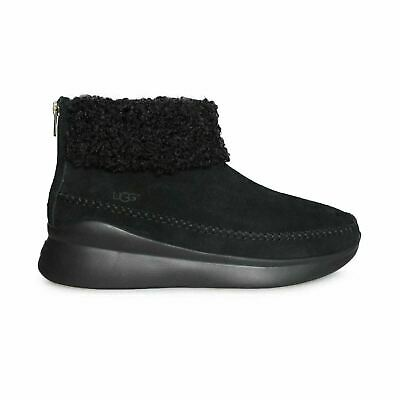 5ce59986325 UGG MONTROSE BLACK Suede Zip Sneakers Shoes Ankle Boots Size 8 ...