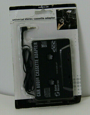 New Black Cassette 3.5mm Audio Car Stereo Adapter